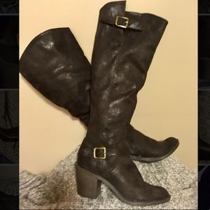 Tall brown boots size 7.5